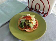 taco salad tostadas. only 400 calories!