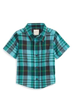 Peek 'Bodie' Plaid Woven Shirt (Baby Boys) available at #Nordstrom