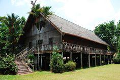 A Dayak Longhouse, Ketapang, Borneo by OwenHuwMorgan on deviantART