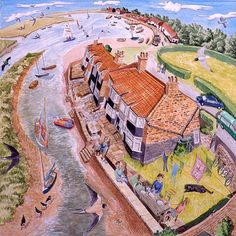 View the painting: Norfolk Haven End by Francis Farmar John Galliano, Clarks, Steve Madden, Best Jigsaw, France, Norfolk, Artists, Artwork, Painting