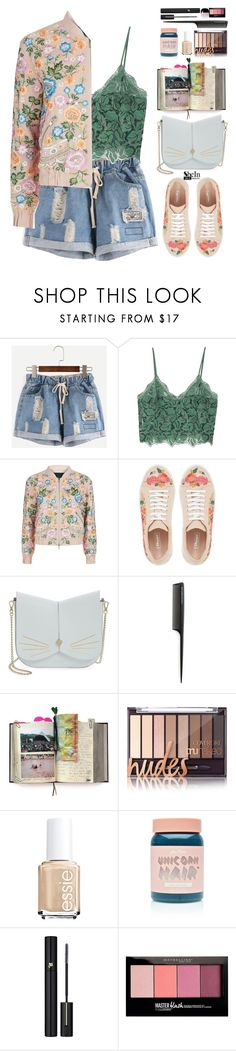 """""""Gorgeous outfit"""" by gabygirafe ❤ liked on Polyvore featuring MANGO, Needle & Thread, Ted Baker, GHD, Suck, Lime Crime, Lancôme, Maybelline and Marc Jacobs"""
