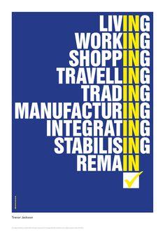 Anti-Brexit REMAIN! Trevor Jackson poster