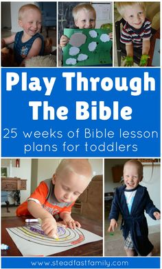 Bible lesson plans for toddlers. Fun, hands-on lesson plans, crafts, and activities for toddlers going through an entire children's bible.