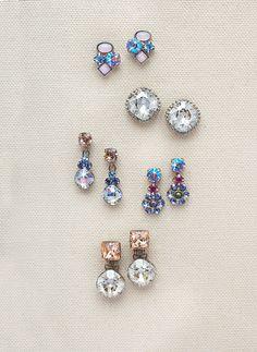 Small Cluster Earring in Dixie (top pair of earrings) - Sorrelli