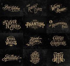 """In this article we have collected some of the best inspiration in terms of golden hand-lettering and typography. Lettering and typography in few words Lettering is defined as """"t. Typography Served, Vintage Typography, Typography Quotes, Typography Letters, Graphic Design Typography, Lettering Design, Web Design, Logo Design, Inspiration Typographie"""
