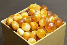 Baltic Amber Beads, Polished Amber Beads,  Amber Beads with holes, 10gr. (~28-34pcs.) 6-9mm. Teething necklace,  Natural amber for jewelry,