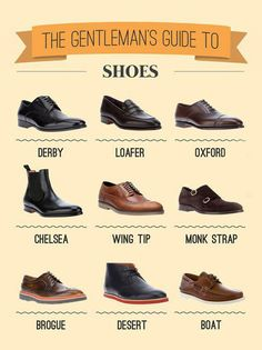 Might be a guide for men, but all I want for fall is Loafers, Oxfords, Chelsea boots, Monk Strap loafers, and Desert boots.