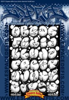 4 - Alphabet graffiti bubble style - Vous avez choisi celui-ci ! participez au sondage en votant le N° 4