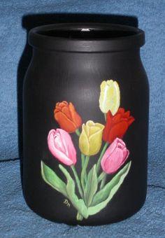 Ölmalereien Painted Wine Bottles, Lighted Wine Bottles, Glass Bottles, Glass Bottle Crafts, Bottle Vase, Krishna Painting, Bottle Painting, Jar Crafts, Decoupage