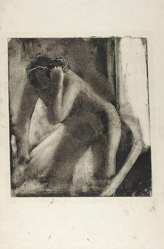 Edgar Degas, Le Bain, 1879-1883 Monotype à l'encre bistre sur vergé crème, Chicago, The Art Institute of Chicago, collection Clarence Buckingham Photography