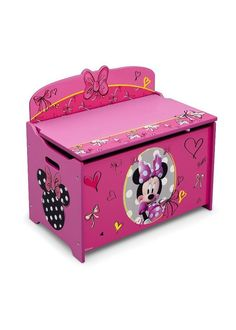 minnie mouse wooden toy box google search little girls pinterest toys search and tutorials. Black Bedroom Furniture Sets. Home Design Ideas