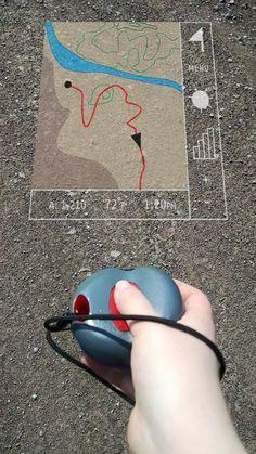 Concept de carte projetée pour les randonneurs