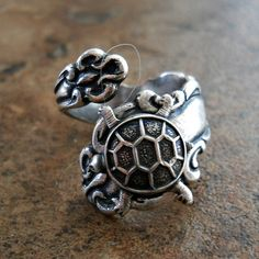 Turtle Spoon Ring in Silver The ORIGINAL by EnchantedLockets, $24.00