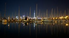 Auckland skyline at the end of a long day