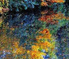 Nature's miracles - Monet fall reflections by jackfre2, via Flickr