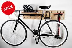 Have endless opportunities with flexibility and style with the Kraft & Ulrich Harper Wall Storage. As our interests grow, so does our storage needs, so it's nice when furniture is designe… Bicycle Wall Mount, Bike Mount, Range Velo, Bike Shelf, Wall Storage Systems, Garage Tool Organization, Building A Garage, Metal Floor, Bike Store