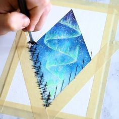 Trendy Painting Diy Galaxy Stars Ideas - Antonia Schröther - Space Everything Tape Painting, Music Painting, Diy Painting, Painting & Drawing, Painting Process, Gouache Painting, Diy Galaxy, Galaxy Art, How To Paint Galaxy
