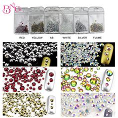 400pcs/bag 3Bags Shiny Mixed 3D Rhinestones SS6-SS20 Crystal AB Color DIY Nail Art Decoration Flatback Acrylic Beads  #Affiliate