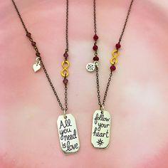 heart charm, compass charm, infinity link, love jewelry, valentine jewelry, necklace design
