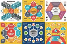 6 Infographic Concept. Business Infographic. $8.00