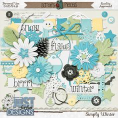 Simply Winter is a beautiful kit that you can use to scrap many different layouts of those wonderful winter memories.