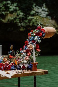 Wedding Chair Decorations, Wedding Chairs, Flower Decorations, Waterfall Wedding, Flower Installation, Floating Flowers, Reception Ideas, Wedding Reception, Wedding Ideas
