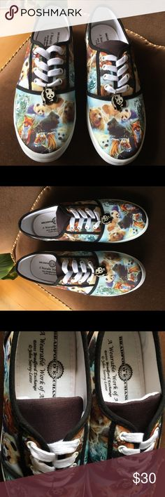 Bradford Exchange Canvas Panda Sneakers Posh is Fab with this pre-owned Bradford Exchange Canvas Panda Sneakers (size 8.0).  It's a work of art on a canvas sneaker. Great condition...lightly worn.  Thank you for viewing and Happy Poshing!✌🏼 Bradford Exchange Shoes Sneakers