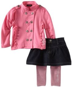 Calvin Klein Baby-Girls Infant Jacket With Denim Skirt And Legging --- http://www.pinterest.com.itshot.me/31f