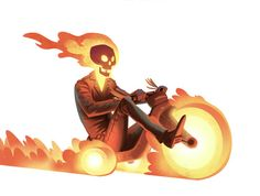Ghost Rider cruisin' on his Big Wheel. Hell on (big) Wheels Ghost Rider, Comic Books Art, Comic Art, Book Art, Character Art, Character Design, Spiderman, Hq Dc, Big Wheel