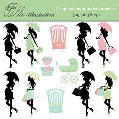 Pregnant moms under umbrellas Baby Shower Favors, Baby Shower Parties, Baby Shower Decorations, Baby Shower Gifts, Umbrella Baby Shower, Under My Umbrella, Baby Bundles, Blog Design, Web Design