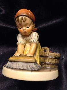 Vintage Goebel Hummel Statue Figurine 363 TMK-5 Big House Cleaing Germany