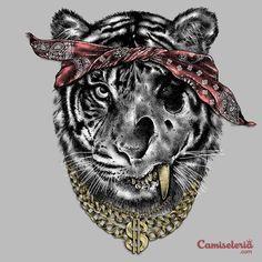 Camiseta 'Thug Tiger'. http://cami.st/p/1915