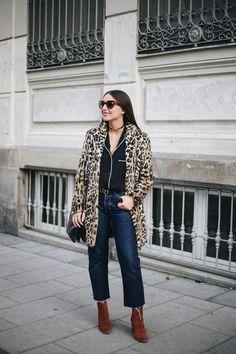 ALL THAT SHE WANTS - blog de moda: Camisa pijamera y abrigo de leopardo