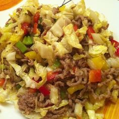 Mincemeat pan with Chinese cabbage