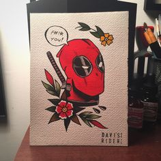 davisrider: Deadpool has always been my favorite. Had a lot of fun with this painting! Prints available soon. Instagram : @Davisimmoralist