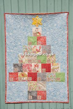 myBearpaw.com - Jo Avery's Advent Quilt using Merry Stitches by Cori Dantini for Blend Fabrics