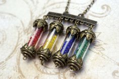 Hogwarts House Points Necklace by ~foowahu-etsy