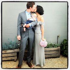 Grey wedding dress.