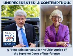 78 days of electioneering! 78 reasons (or more) to #HeaveSteve2015 #cdnpoli #elxn42 #StopHarper Reason #22 #Contempt