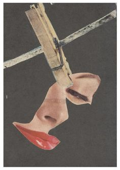 Hannah Hoch - take the face off, something which is added to a human, not real