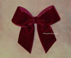 "Many Colors!  Simple Velvet Hair Bow w/ Tails Down - 4.5"" - Velvet Holiday - Special Occasion - Dressy Christmas RoseyBow® Hair Bow"