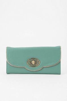 you're so cute, but too small to be very practical. :(  Kimchi Blue Scallop-Lace Checkbook Wallet