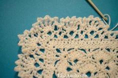 Single color crochet baby blanket heirloom fancy