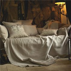 Lili Alessandra Battersea Taupe Quilted Bedspread