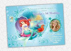The Little Mermaid Invitation by PrintSparkle on Etsy, $8.00