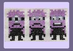 Purple Minions Cross Stitch Pattern by StitchedWithLoveByUs, £1.50