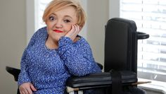 Stella Young commands an attentive audience as she urges society to treat women with disabilities with the respect they deserve.