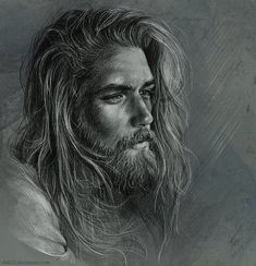 Ben Dahlhaus. Pencil and Charcoal Portrait Drawings. By Tatyana Buyskaya.