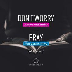 """""""Janganlah hendaknya kamu kuatir tentang apapun juga, tetapi nyatakanlah dalam…"""