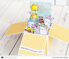 Mama Elephant Designer Series: Party Animals @akossakovskaya #cardmaking #mamaelephant